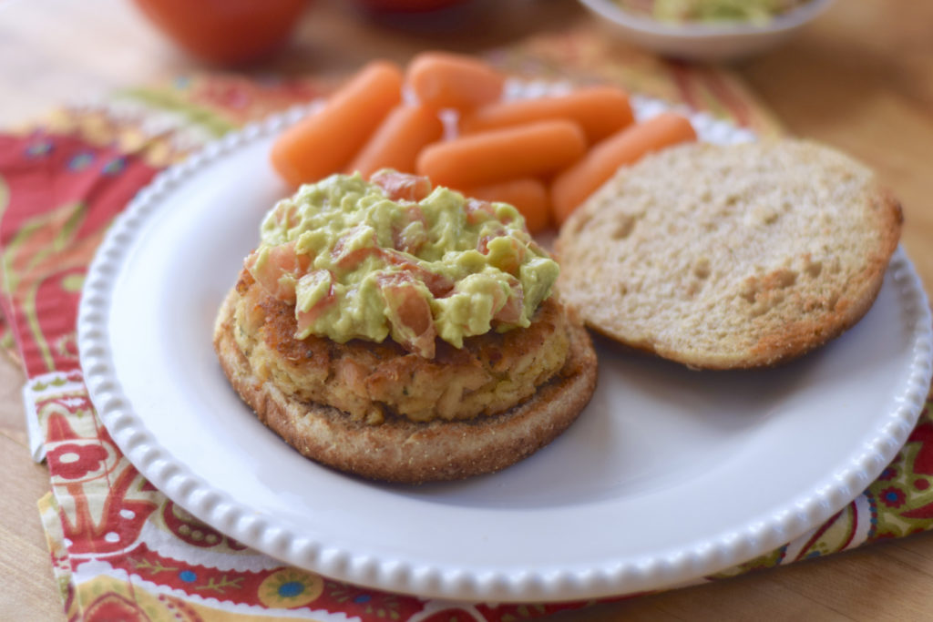 Tuna Burgers with Smashed Avocado and Tomato