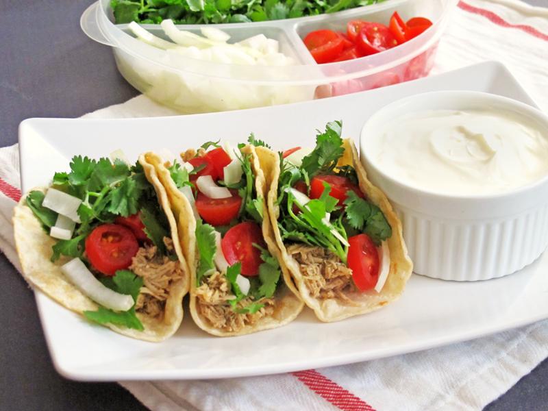 Shredded Chicken Tacos: